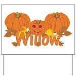 Halloween Pumpkin Willow Yard Sign