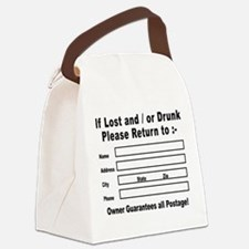 If Lost and / or Drunk Canvas Lunch Bag