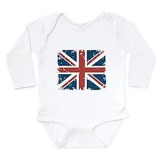 Union Jack Flag Long Sleeve Infant Bodysuit