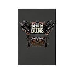 Family Guns Rectangle Magnet