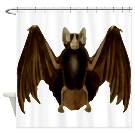 Scary Bat Shower Curtain