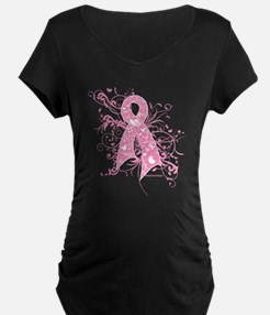 Breast Cancer Pink Swirls T-Shirt