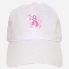 Breast Cancer Pink Swirls Baseball Baseball Cap