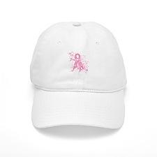 Breast Cancer Pink Swirls Baseball Cap