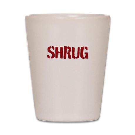 Red shrug Shot Glass
