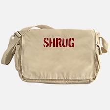 Red shrug Messenger Bag