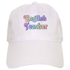 """English Teacher Rainbow"" Baseball Cap"