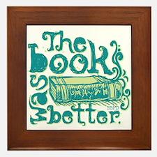 The Book Was Better Framed Tile