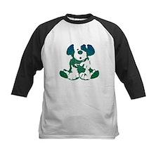 Textural Puppy Kid's Baseball Jersey