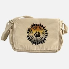 Tribal Bear Pride Paw Messenger Bag