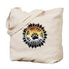 Tribal Bear Pride Paw Tote Bag