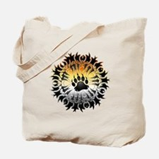Tribal Bear Pride Paw Tote Bag