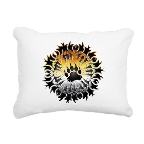 Tribal Bear Pride Paw Rectangular Canvas Pillow