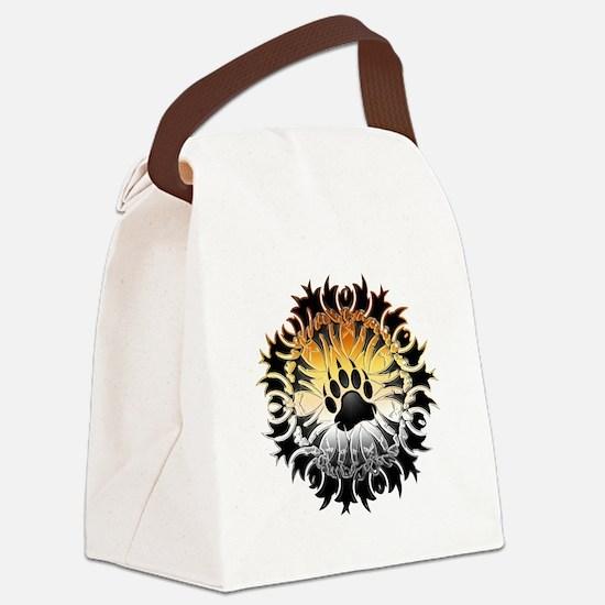 Tribal Bear Pride Paw Canvas Lunch Bag