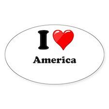 I Heart Love America Decal