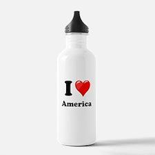 I Heart Love America Water Bottle