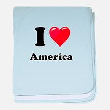 I Heart Love America baby blanket