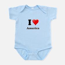 I Heart Love America Infant Bodysuit