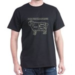 Light Grey print / Know Your Cuts of Lamb Dark T-S