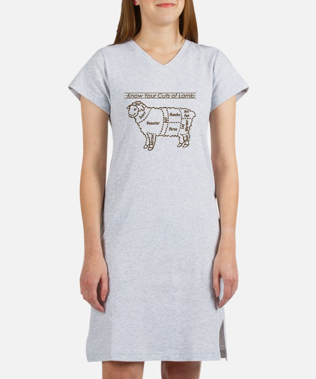Dark Brown Print / Know Your Cuts of Lamb Women's