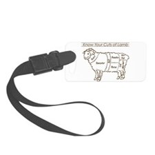 Dark Brown Print / Know Your Cuts of Lamb Luggage Tag