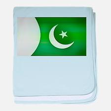 Patriotic Pakistani Design baby blanket