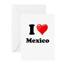 I Heart Love Mexico Greeting Cards (Pk of 20)