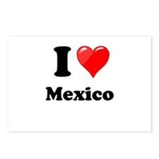 I Heart Love Mexico Postcards (Package of 8)