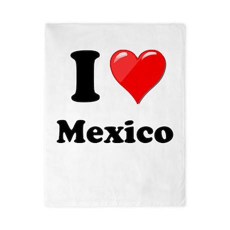 I Heart Love Mexico Twin Duvet