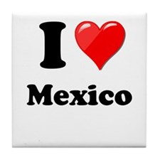I Heart Love Mexico Tile Coaster