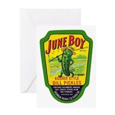 June Boy Pickles Greeting Card