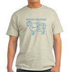 Blue print / Know Your Cuts of Lamb Light T-Shirt