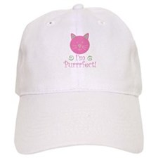 I'm purrrfect cute kitty in pink Baseball Cap