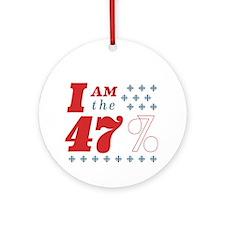 I'm the 47% Ornament (Round)