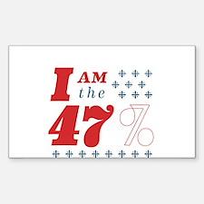 I'm the 47% Sticker (Rectangle)