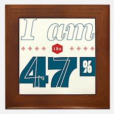 I Am the 47% Framed Tile
