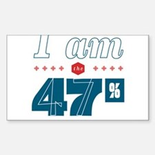 I Am the 47% Sticker (Rectangle)