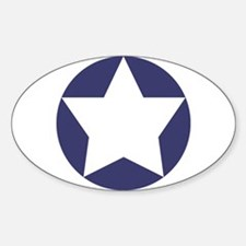 WWII Star In Blue Circle Decal