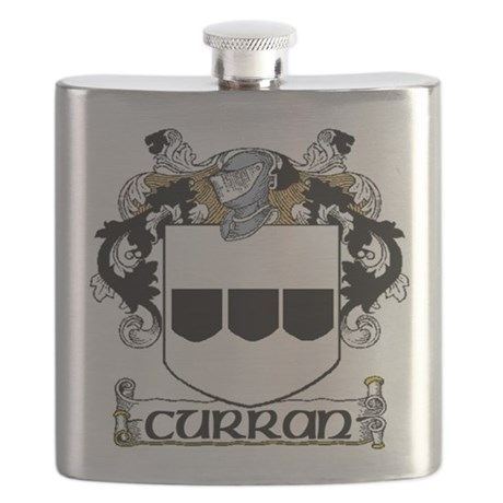 Curran Coat of Arms Flask