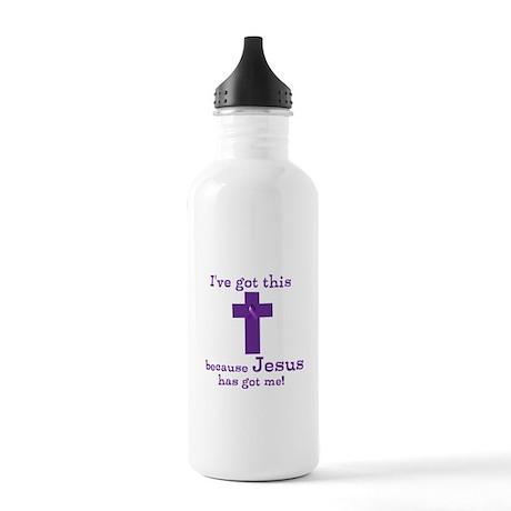 Purple Jesus Has Got Me Stainless Water Bottle 1.0
