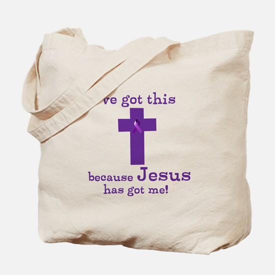 Purple Jesus Has Got Me Tote Bag