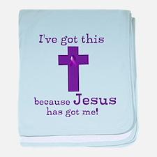 Purple Jesus Has Got Me baby blanket