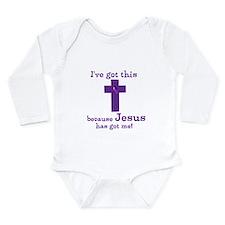 Purple Jesus Has Got Me Long Sleeve Infant Bodysui