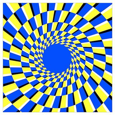 Peripheral drift illusion Poster