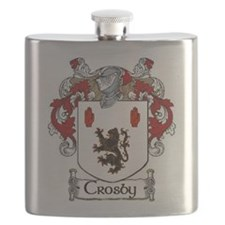 Crosby Coat of Arms Flask
