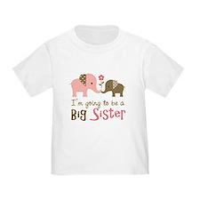 Big Sister to be - Mod Elephant T-Shirt