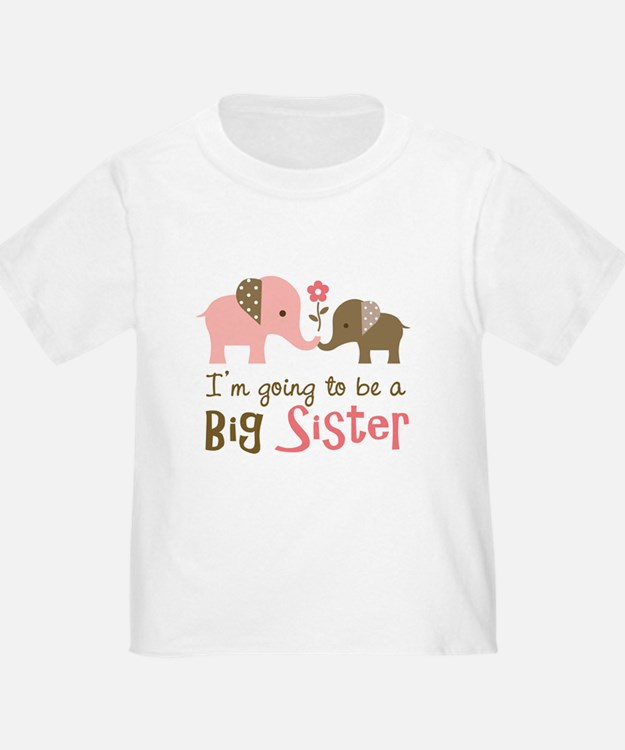 Big Sister to be - Mod Elephant T-Shirt