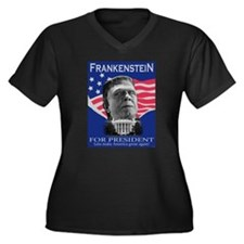 Frankenstein in 2012 Women's Plus Size V-Neck Dark