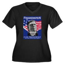 Frankenstein in 2012 Women's Plus Size V-Neck Dark