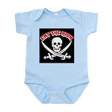 Jolly Roger: Eat The Rich! Infant Bodysuit